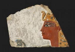 Głowa króla z wejścia do pomieszczenia G (fot. Z. Doliński)